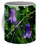 Purple Clamatis Bells Coffee Mug