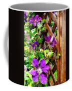 Purple Clematis On Trellis Coffee Mug
