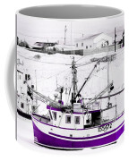 Purple Fishing Boat Coffee Mug