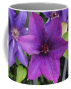 Purple Floral Coffee Mug