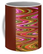 Purple Flowers Abstract Coffee Mug