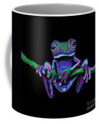 Purple Green Ghost Frog Coffee Mug