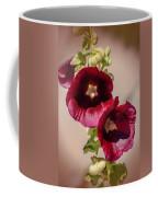 Purple Hollyhock Duo Coffee Mug