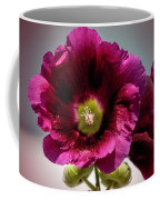 Purple Hollyhock Coffee Mug