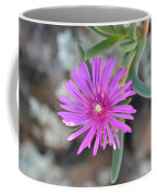 Purple Ice Flower Close Up Coffee Mug