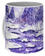 Purple Ice On Kaaterskill Creek Coffee Mug