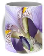 Purple Iris With Focus On Bud Coffee Mug