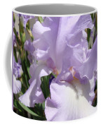 Purple Irises Artwork Lavender Iris Flowers 13 Botanical Floral Art Baslee Troutman Coffee Mug