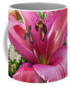 Purple Lilly In A Flower Bouquet Extreme Close-up Coffee Mug