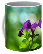 Purple Petunia On A Cool Spring Day Coffee Mug