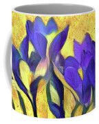 Purple Spring Crocus Flowers Coffee Mug