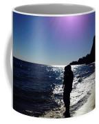 Purple Sun Evening Beach Coffee Mug