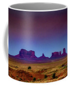 Purple Sunset In Monument Valley Coffee Mug