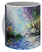 Purple Tree By The Lake Coffee Mug