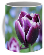 Purple Tulips With Dew Drops On The Outside Of The Petals Coffee Mug