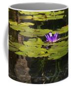 Purple Water Lilly Distortion Coffee Mug
