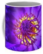 Purple Water Lily Macro Coffee Mug
