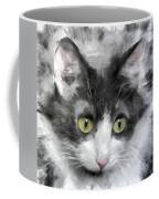 A Cat With Green Eyes Coffee Mug