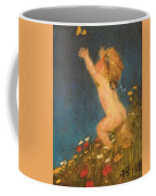 Putto And Butterfly 1896 Coffee Mug