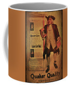 Quaker Quality Coffee Mug by Bill Cannon