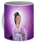 Quan Yin With Three Dragonflies Coffee Mug