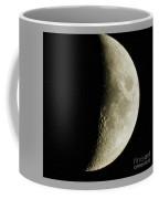 Quarter Moon Photo By W G  Smith Coffee Mug