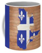 Quebec Rustic Map On Wood Coffee Mug