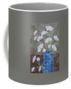 Queen Anne's Lace In Blue Vase Coffee Mug