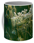 Queen Anne's Lace In Green Horizontal Coffee Mug