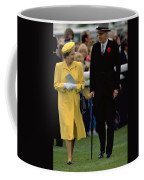 Queen Elizabeth Inspects The Horses Coffee Mug