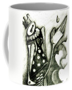 Queen Of Hearts Coffee Mug by Delight Worthyn