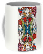 Queen Of Hearts Coffee Mug by Jani Freimann