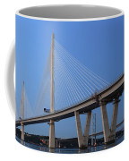 Queensferry Crossing In Panorama Coffee Mug by Maria Gaellman