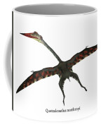 Quetzalcoatlus Flying Reptile With Font Coffee Mug