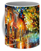 Quiet Corner-garden On The Stones - Palette Knife Oil Painting On Canvas By Leonid Afremov Coffee Mug