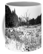 Quiet Winter Black And White Coffee Mug