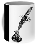 Quill And Ink-black Coffee Mug