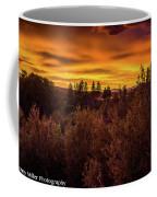 Quilted Orange Skies Coffee Mug