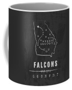 Atlanta Falcons Art - Nfl Football Wall Print Coffee Mug by Damon Gray