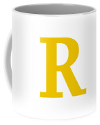 R In Mustard Typewriter Style Coffee Mug