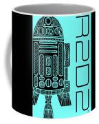 R2d2 - Star Wars Art - Blue Coffee Mug