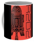 R2d2 - Star Wars Art - Red Coffee Mug