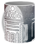 R2d2 - Star Wars Art - Space Coffee Mug
