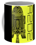 R2d2 - Star Wars Art - Yellow Coffee Mug