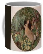 Rabbit Amid Ferns And Flowering Coffee Mug