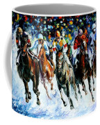 Race On The Snow Coffee Mug