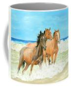 Racing The Surf Coffee Mug