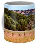 Nine Racing Whitetail Deer Coffee Mug
