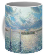 Racing Yachts Past Snapper Island Coffee Mug