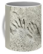 Racoon Tracks At The River Coffee Mug